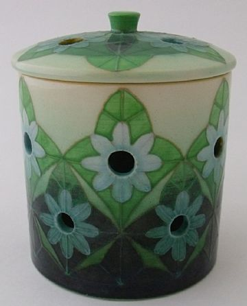 Dennis Chinaworks Holy Daisy Lidded Pot